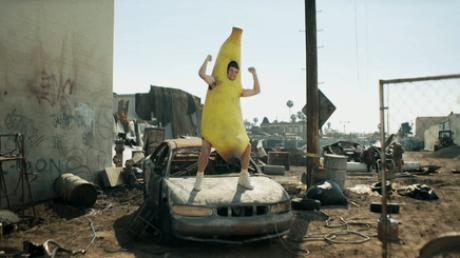 Eli Manning in a banana suit