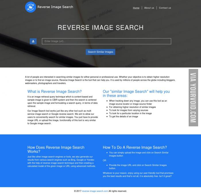 Free Online Reverse image search tool to find related or similar images online